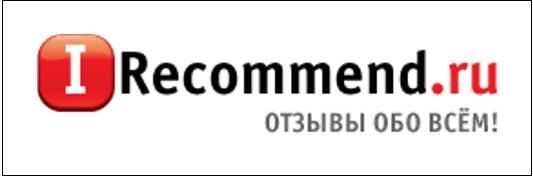 Надпись Ireccomend