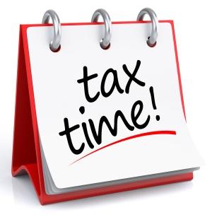 Надпись tax time