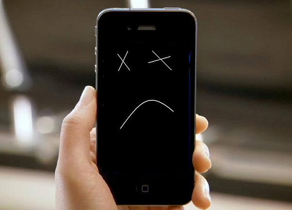 Неработающий смартфон