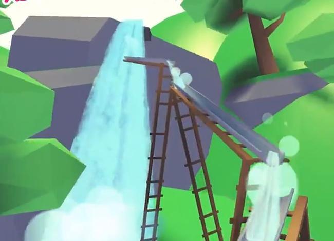 Водопад с добавлением новых горок