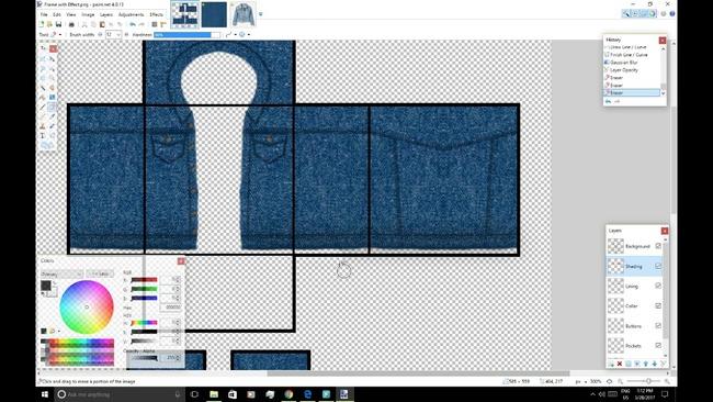 Скриншот созданного в графическом редакторе жакета