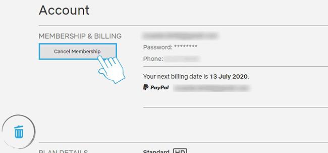 Отказ от подписки или ее изменение в профиле пользователя