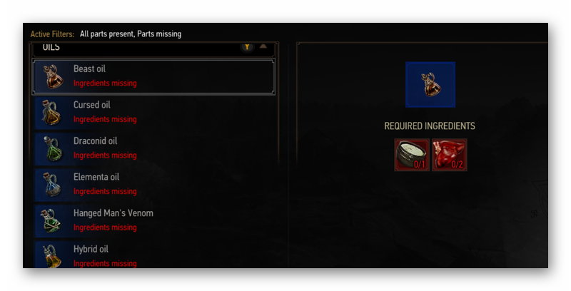 Сохранение The Witcher 3, позволяющее открыть бестиарий