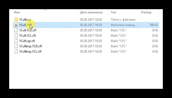 Файл базы данных