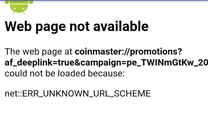 Ошибка NetERR_UNKNOWN_URL_SCHEME