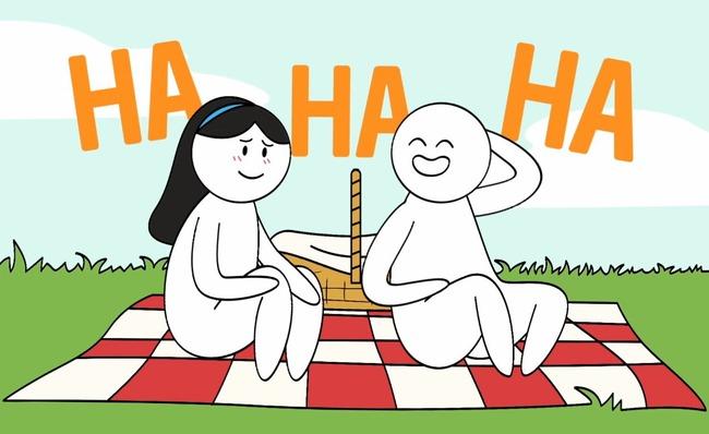 Картинка с двумя людьми на пикнике